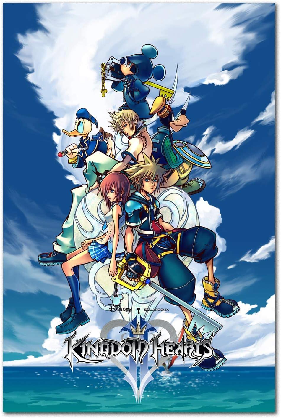 Amazon.com: Printing Pira Kingdom Hearts II Poster - PS2 Exclusive - Box Art  (11x17): Posters & Prints