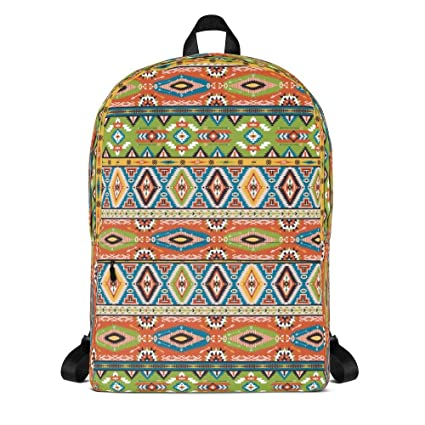 Handmade Native American Print Minimalist, Small Water-Resistant Commuter Fashion  Backpack for Men and 7e65888777