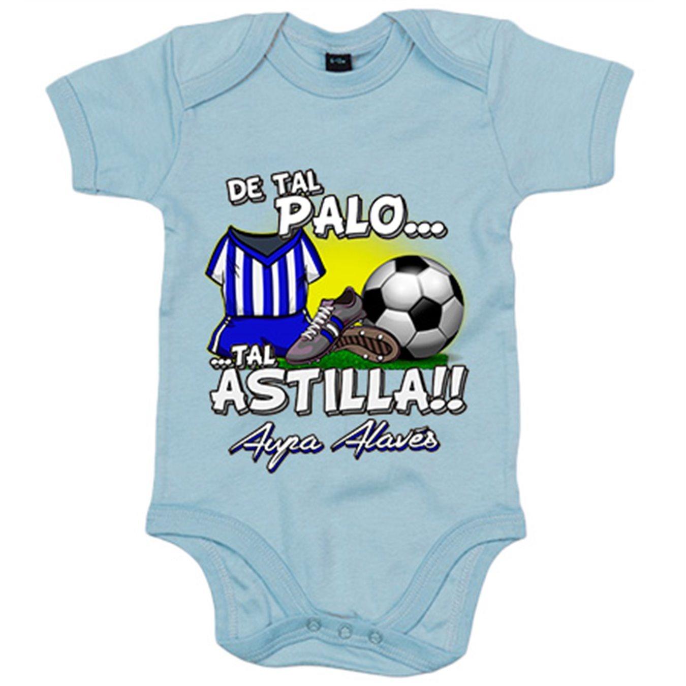 Body bebé De tal palo tal astilla Alaves fútbol - Azul Royal, 6-12 meses: Amazon.es: Bebé