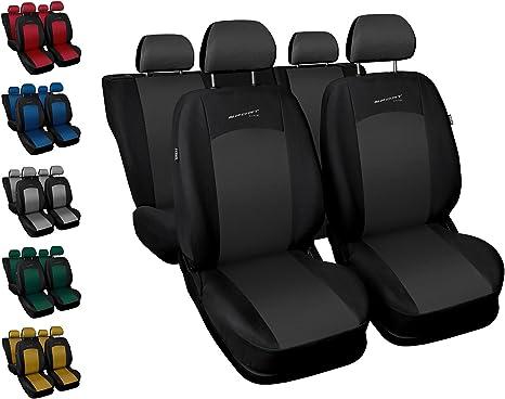 Autositzbezüge Dacia Logan Universal 1+1 Vordersitze Schwarz Sitzbezüge Autositz