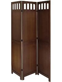 winsome wood 3panel wood folding screen