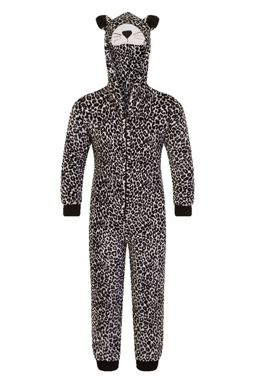 Childrens Fleece Ones Kids Animal Onezie All in one Pajama pjamas Jumpsuit Sleep Suit