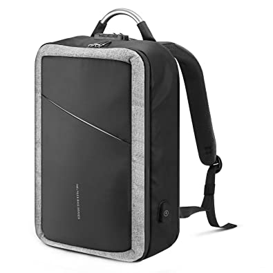 dc881bc451e7 Amazon | MR.YLLS USBポートバックパック PC通勤通学ビジネスバッグ 15.6 ...
