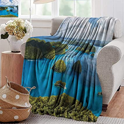 Awe Inspiring Amazon Com Xaviera Doherty Flannel Throw Blanket Island Short Links Chair Design For Home Short Linksinfo