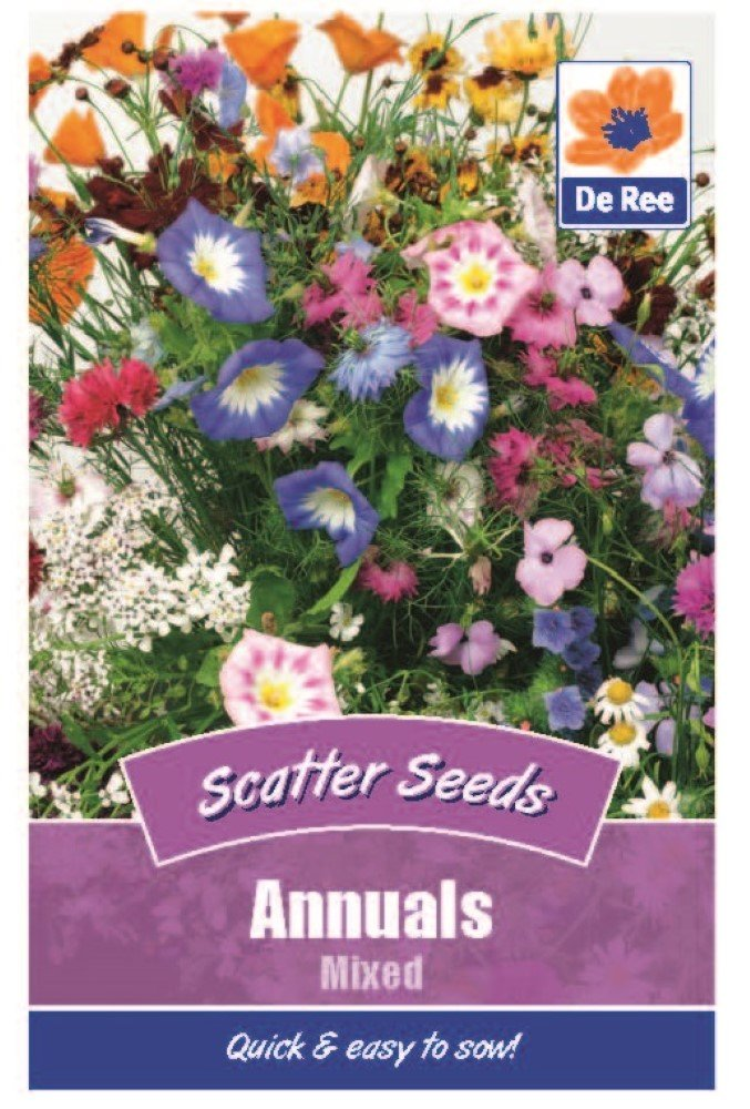 360 in total 2 Packs of Annuals Mixed Flower Scatter Seeds Approx 180 seeds per pack