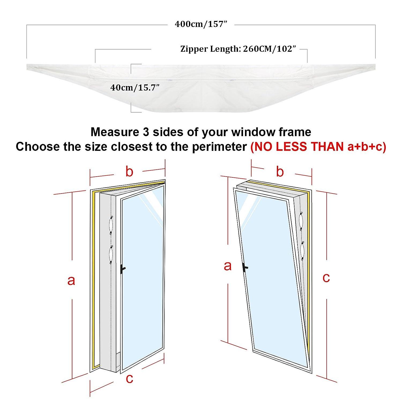 HOOMEE 400CM Fensterabdichtung Für mobile Klimageräte, Klimaanlagen ...