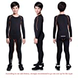 TERODACO Boys Kids' Athletic Base Layer Compression