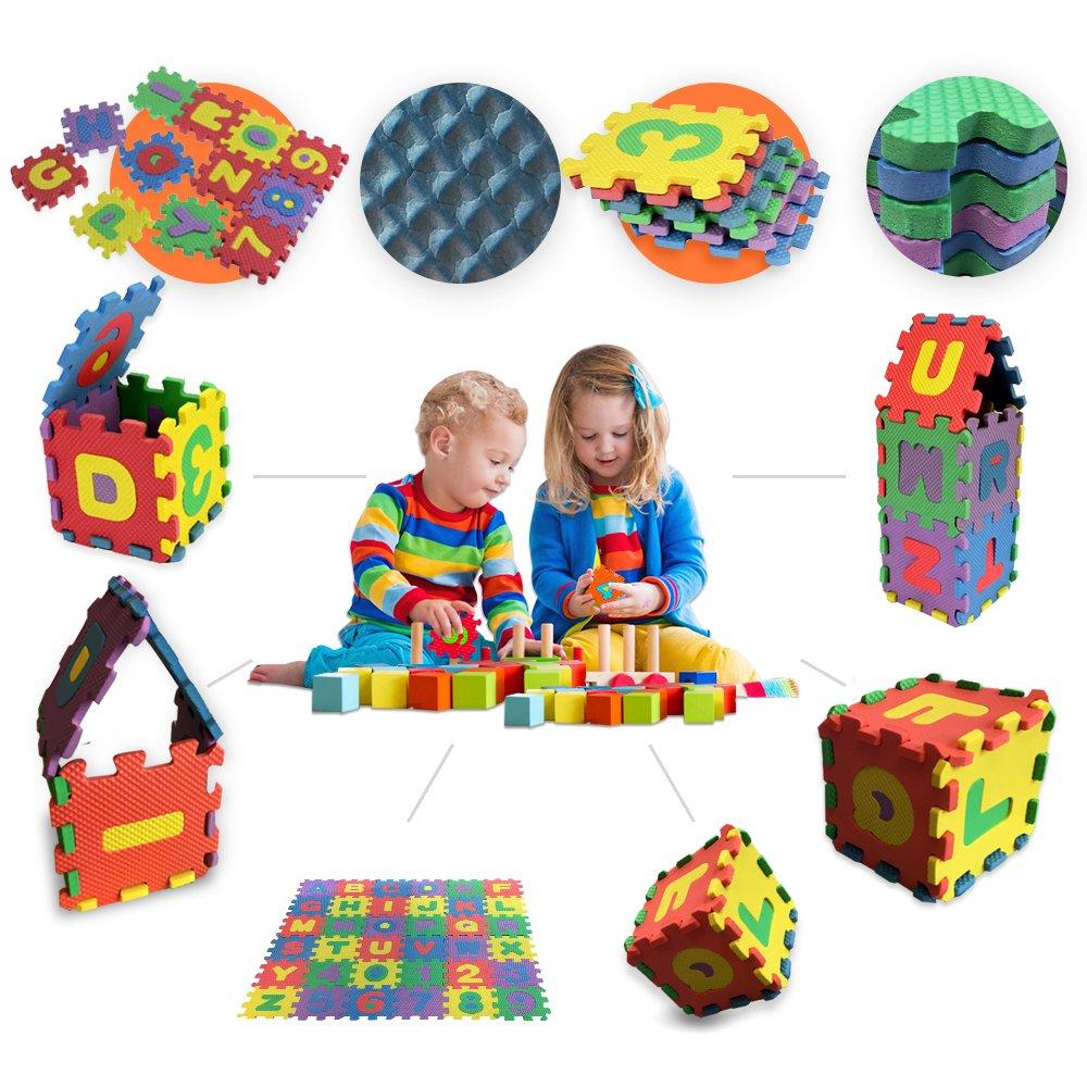 [PUZZLE TAPIS ENFANT] Puzzle tapis mousse bébé alphabet - 12 x 12cm - 36 dalles - GadgetQounts