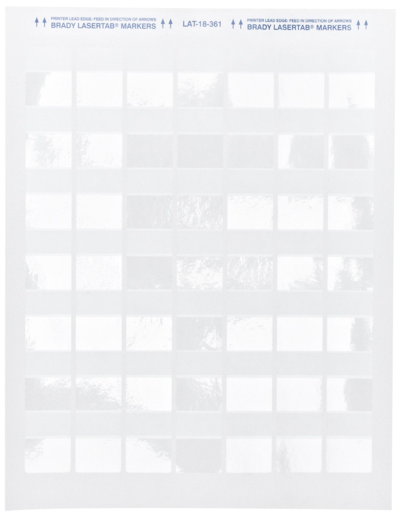 Brady Self-Laminating Laser Printable Polyester Labels (LAT-18-361-2.5) - Matte Finish, White/Translucent Labels - 1'' Width, 1.33'' Height (Pack of 1000)