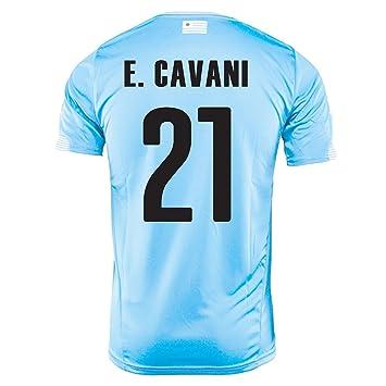 Puma E. Cavani # 21 Uruguay Camiseta, Hombre, Azul Celeste: Amazon.es: Deportes y aire libre