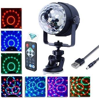 Lampe de Scène, Florally RGB DJ LED Atmosphère Lumière Ampoule Boule  Cristal Commande Sonore, 41d260e3c271