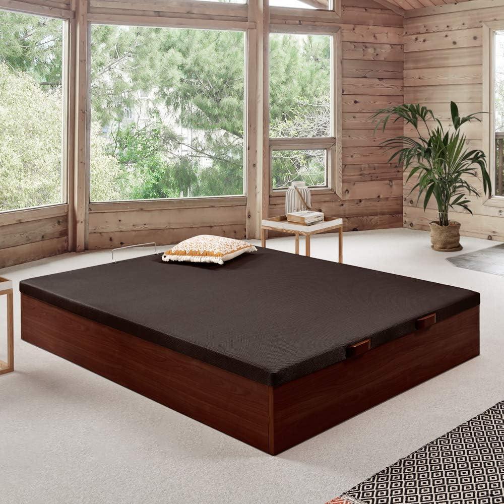 Komfortland Canapé abatible Wood de Home Medida 150x190 cm Color Wengué