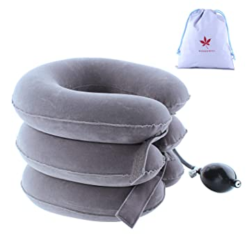 LeRan Dispositivo de tracción cervical suave Almohadas de cuello ...