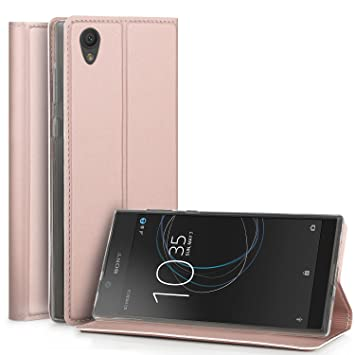 check out 7499f 0662f Sony Xperia L1 Case, IVSO Slim Flip Shell Case: Amazon.co.uk ...