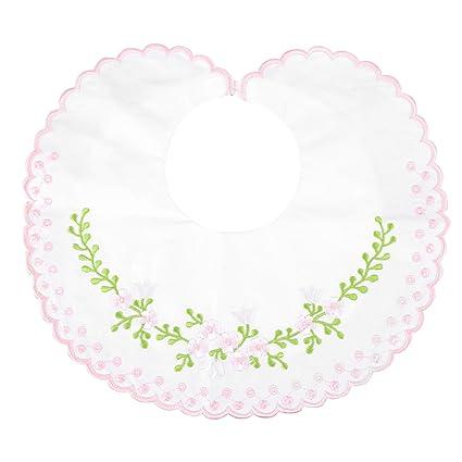 Fyy Babero de Bebé 100% Algodón Orgánico [Forma de Flor] Permanece Seco y