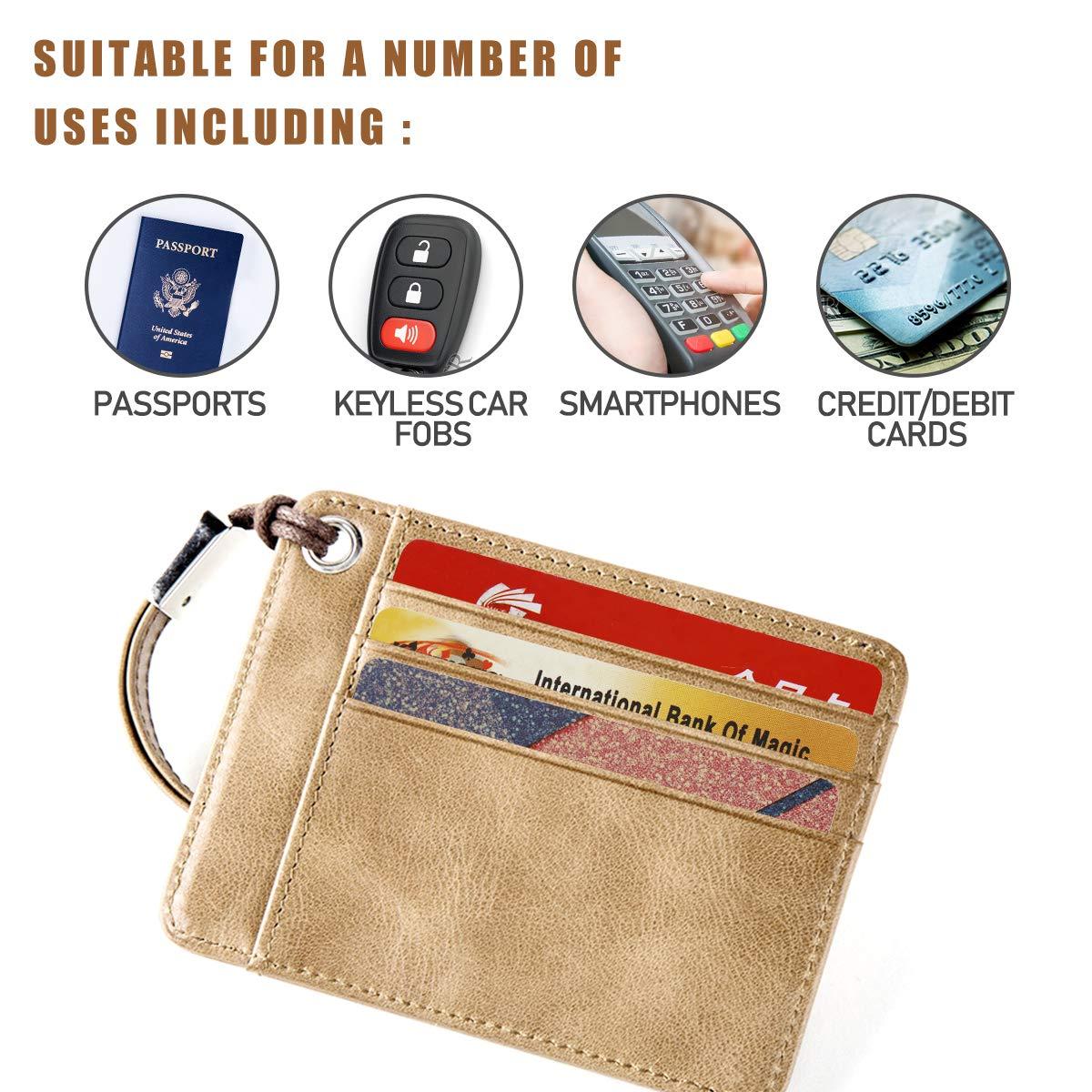 Amazon.com: Tarjeta de bloqueo RFID | Protector de tarjetas ...