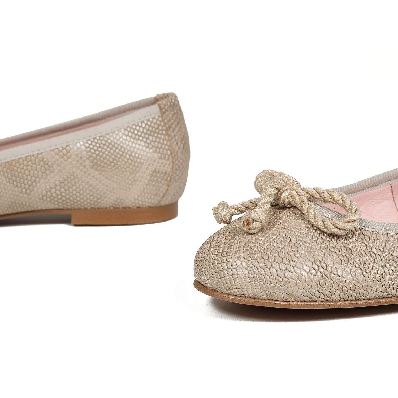 58d42fee267 Zapatos Piel Mujer Hechos EN ESPAÑ A Bailarinas Mujer Manoletinas Serpiente  Zapatos miMaO Zapato Có modo Mujer con Plantilla Confort Gel
