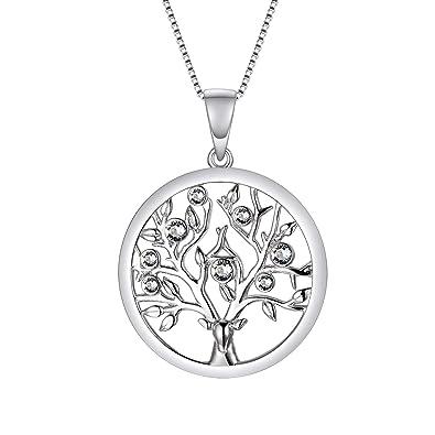 Ohrstecker Baum des Lebens 925 Sterling Silber Schmuck Set Anhänger Kette u