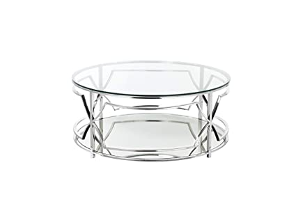 Round Coffee Table Silver 1