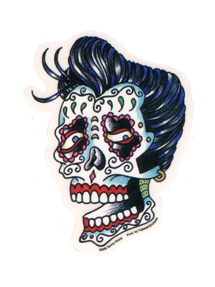 Sunny Buick - Rockabilly Skull - Sticker / Decal yujean