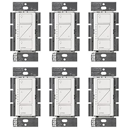 Lutron PD-10NXD-WH Caseta Pro In Wall Dimmer 250W LED (6 Pack) - - Amazon .com