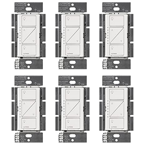Lutron PD-10NXD-WH Caseta Pro In Wall Dimmer 250W LED (6 Pack) - - Amazon.com