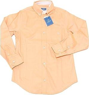 Fay 9727F Camicia rosa Pesca JUNIOR Botton DOWN Manica Lunga camicie Bimbo Shirt