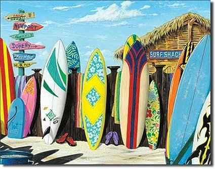 Amazon Com Surf Shack Beach Surfer Surfing Longboard Surfboard Fin