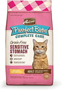 Merrick Purrfect Bistro Complete Care Sensitive Stomach Recipe Dry Cat Food, 4 lbs.