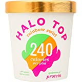 Halo Top Ice Cream Pint, Rainbow Swirl, 16 Ounce (Pack of 8)