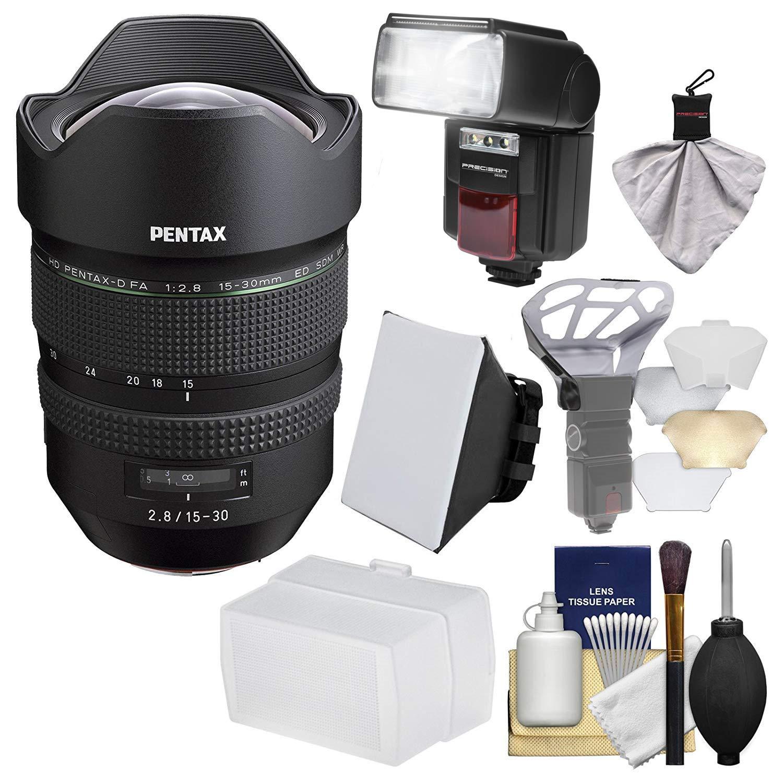Pentax HD FA 15 – 30 mm f / 2.8 Ed Sdm WRズームレンズとFlash +ソフトボックス+ディフューザー+キット   B01CIRON1O