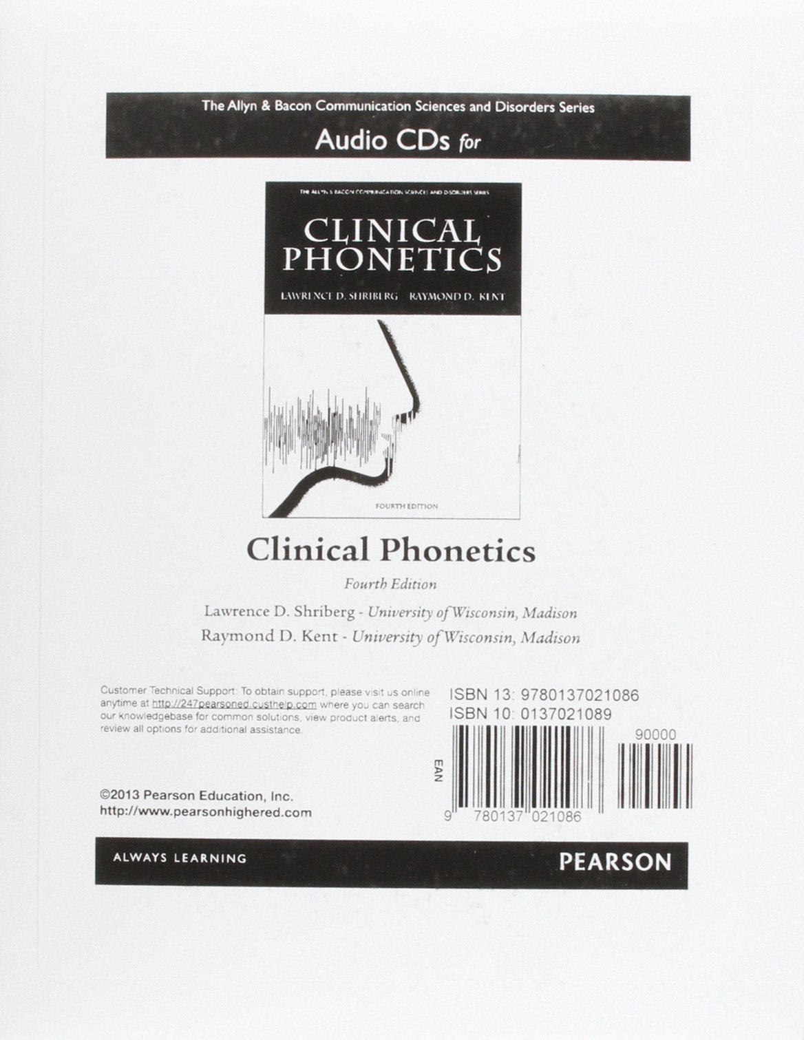 Audio CDs for Clinical Phonetics (The Allyn & Bacon Communication Sciences and Disorders Series) by Brand: Pearson