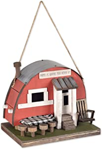 Sunset Vista Designs BPS-07 Welcome to The Woods Decorative Birdhouse, Moon Camper Trailer