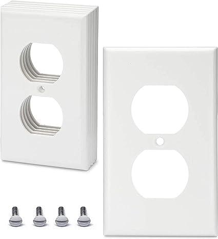10 Pack 1-Gang White Single Duplex Standard Wall Plate