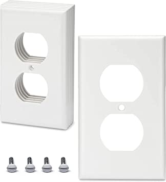 Duplex Outlet Covers 10 Pack 1 Gang Duplex Outlet Wall Plate Outlet Cover Duplex Outlet Cover 1 Outlet Cover 1 Gang Wallplate 1 Gang Wall Plate Electrical Outlet Covers Power Outlet Cover White