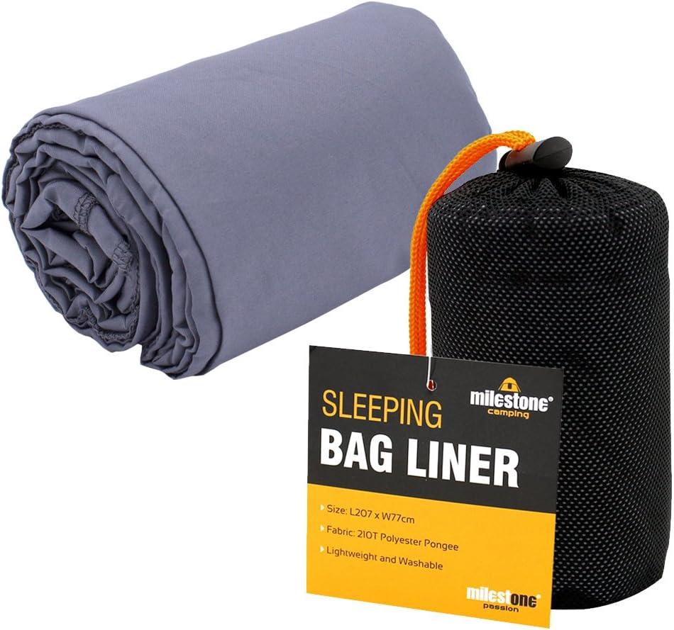 Black Milestone Camping Summer Sleeping Bag Liner