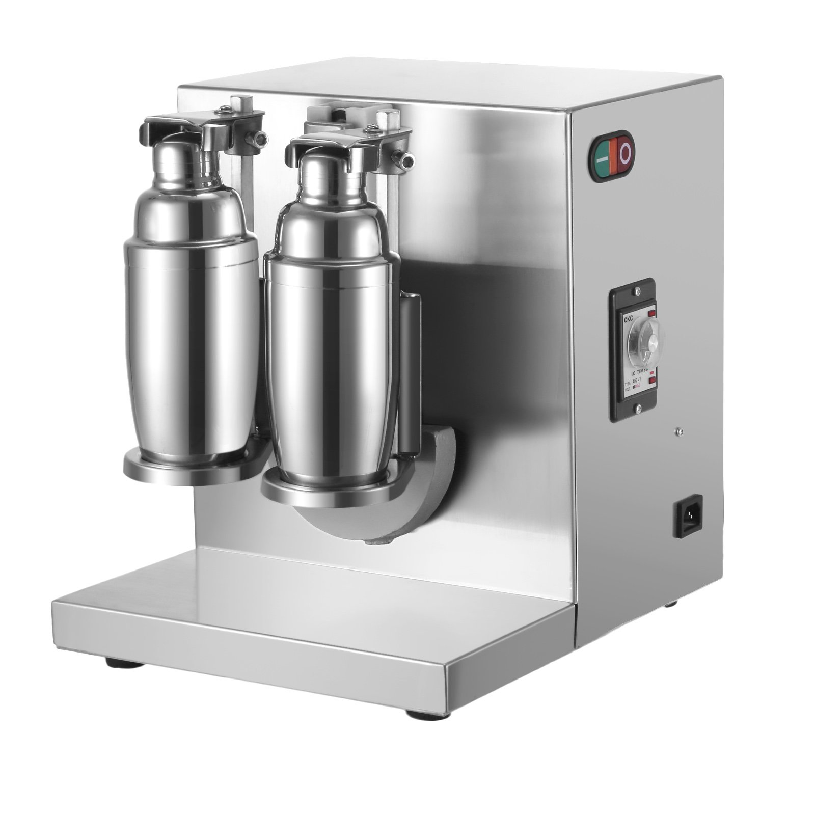 Happybuy Milk Tea Shaker Double Frame Milk Tea Shaking Machine 400r/min Stainless Steel Auto Tea Milk Making Machine for Boba Milk Tea