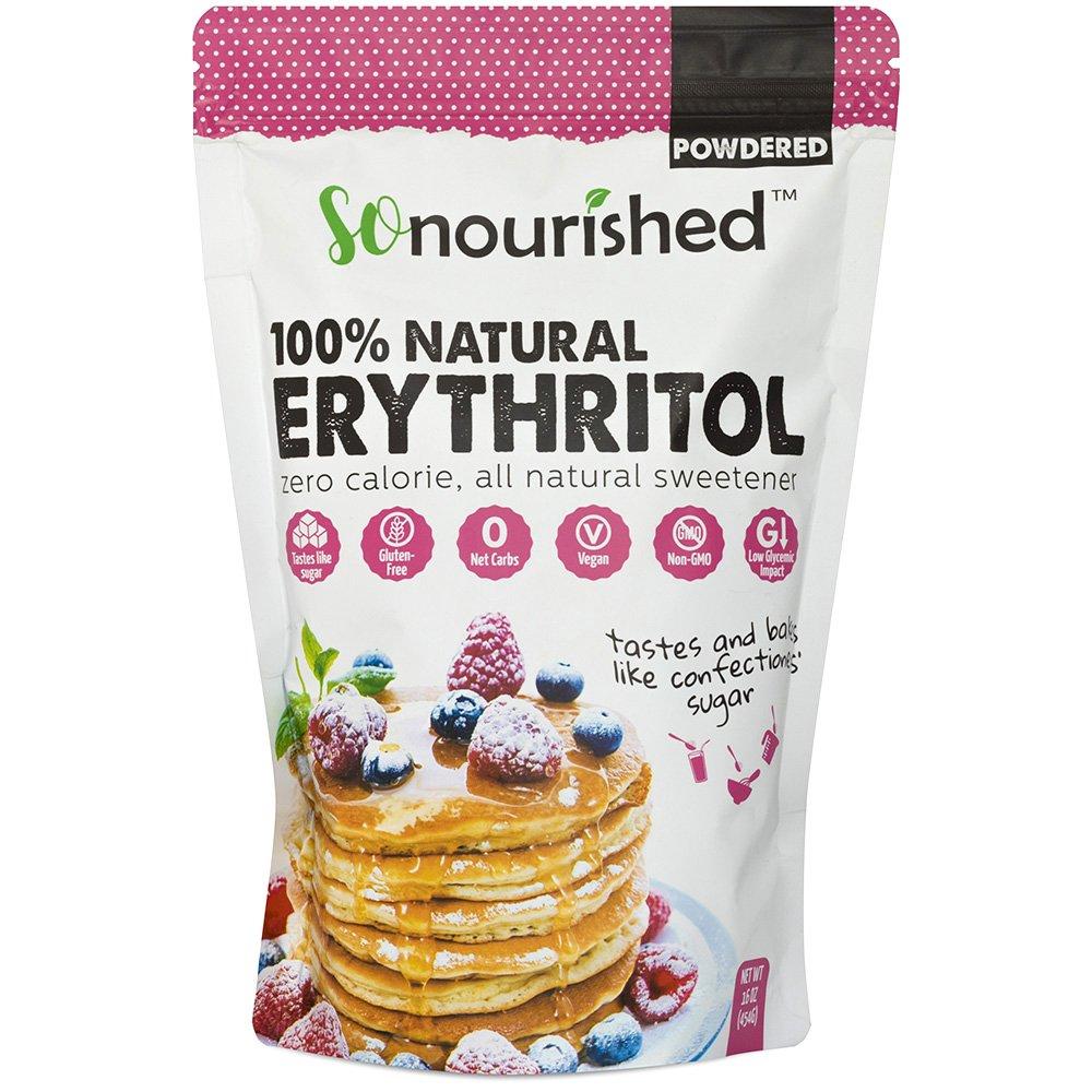 Powdered Erythritol Sweetener - 1:1 Sugar Substitute, Keto - 0 Calorie, 0 Net Carb, Non-GMO