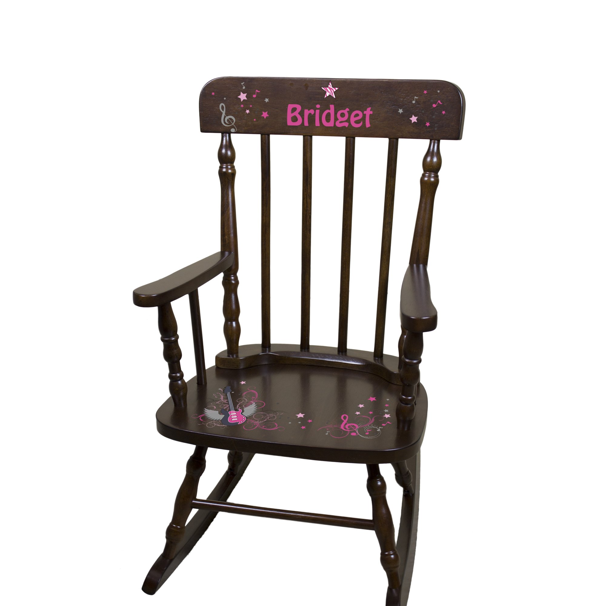 Personalized Espresso Ice Princess Rocking Chair by MyBambino