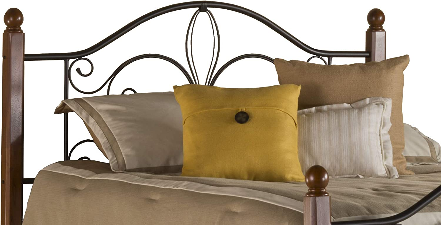 Hillsdale Furniture Hillsdale Milwaukee Post Without Bed Frame Full/Queen Headboard, Textured Black