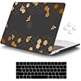 iCasso MacBook Pro 13 inch Case 2016-2020 Release A2338M1/A2159/A1989/A1706/A1708, Plastic Hard Shell Case with 5 Rows Keyboa