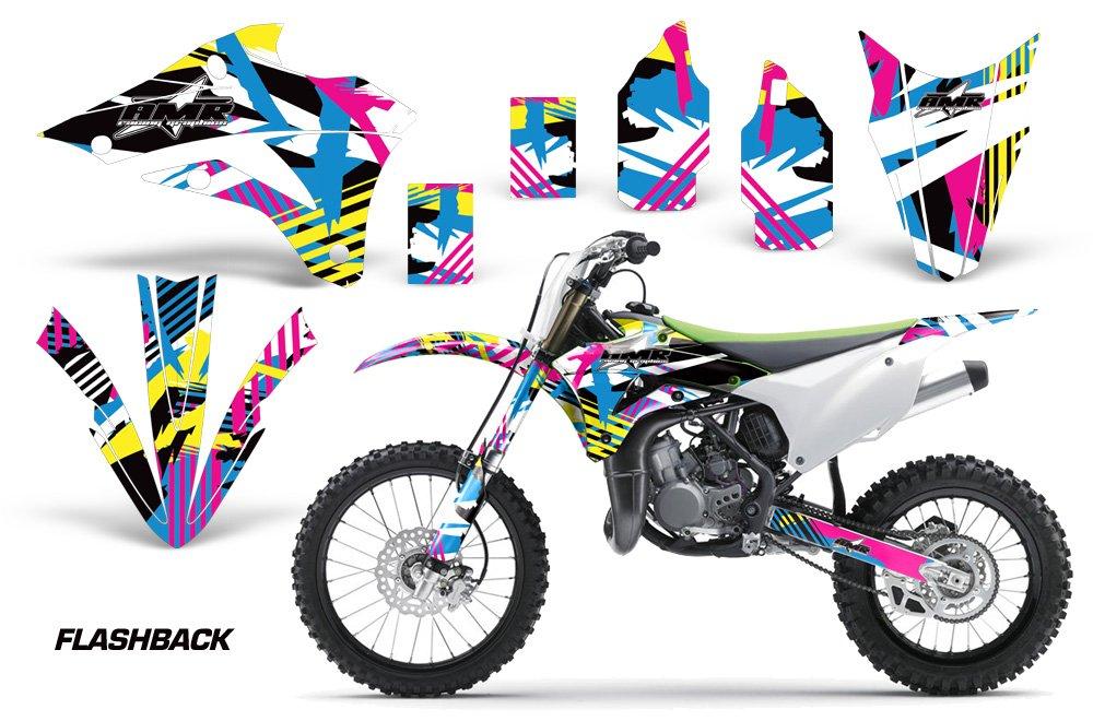 Kawasaki KX80 KX100 2014-2016 MX Dirt Bike Graphic Kit Sticker Decals KX 80 100 FLASHBACK