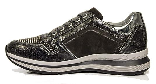 Sneaker NeroGiardini A806572-105 6572 Scarpe Sportive Nere Donna con  Cerniera  Amazon.it  Scarpe e borse c8397962041