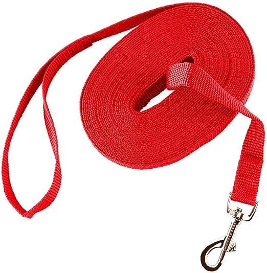 Entrenamiento del perro Onsinic 1Pcs plomo rojo Cuerda Larga ...