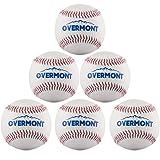 Overmont 6 x Balle de baseball balle de softball couture à la main pour pratiquer l'exercise