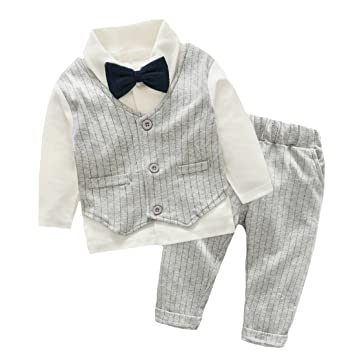 53f941e36898c エルフ ベビー(Fairy Baby)ベビースーツ 男の子 上下セット 長袖フォーマル 結婚式服