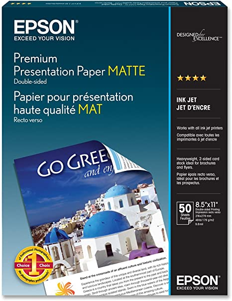 Amazon.com: Epson (S041568) papel MATTE ultra premium doble ...