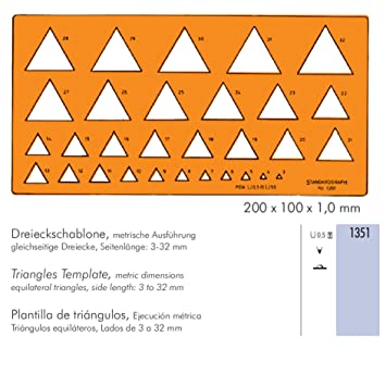 standardgraph triangles template amazon co uk office products