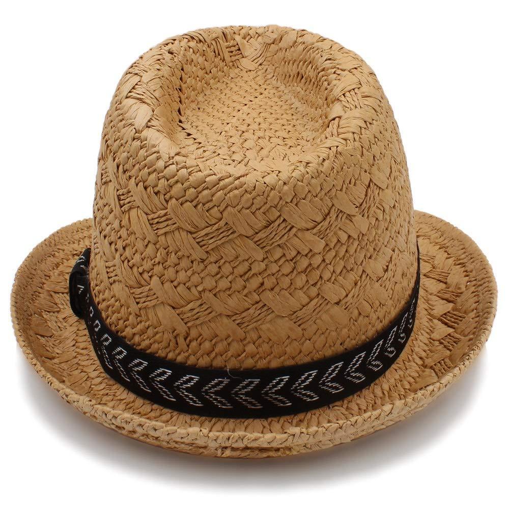 Achun Mütze Sonnenhüte der Mode-Sommer-Strohmänner Männer Trilby Gangster-Kappen-Sommer-Strandkappe Panama-Hut Sombrero-Reise