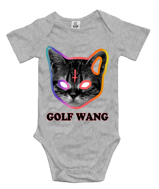 6dcd2f4764cb Golf wang cat odd future unisex baby short sleeve onesies cotton bodysuits  infant romper clothes clothing